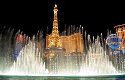 Fontaines de Bellagio Photos stock