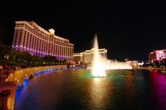 Fontaines de Bellagio Image stock