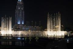 Fontaines de Dubaï photos stock