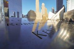 9-11 fontaines de mémorial au point zéro - World Trade Center MANHATTAN - NEW YORK - 1er avril 2017 Photo libre de droits