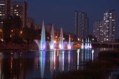 Fontaines de rivière Photographie stock libre de droits