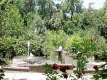 Fontaines de Tashkent en Amir Temur Square 2007 Images libres de droits