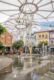 Fontaines en Clarke Quay photos stock
