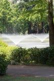 Fontaines en parc photo stock