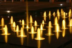 Fontaines magiques Photos libres de droits