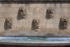Fontaines principales sculptées Photos stock
