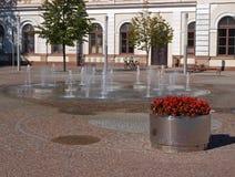 Fontaines sur le trottoir photo stock