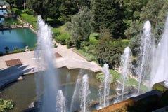 Fontaines, villa D'Este, Tivoli, Italie image libre de droits