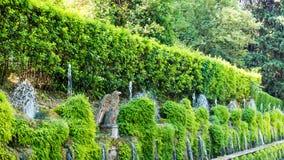 Fontaines, villa D'Este, Tivoli, Italie photo libre de droits