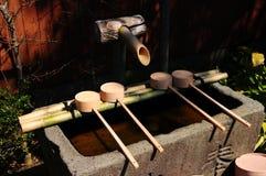 Fontains de bambú japoneses Imagenes de archivo