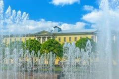 Fontan στην πλατεία Λένιν στη Αγία Πετρούπολη Στοκ φωτογραφία με δικαίωμα ελεύθερης χρήσης