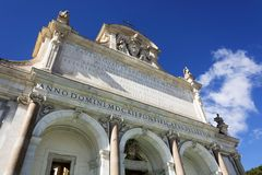 Fontana小山谷` Acqua Paola在罗马 免版税库存照片