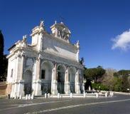 Fontana小山谷` Acqua Paola在罗马 免版税库存图片