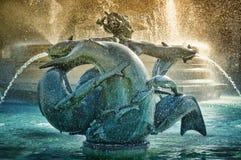 Fontana al quadrato di Trafalgar Immagini Stock Libere da Diritti