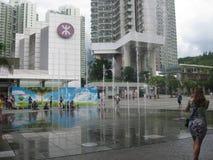 fontana al quadrato, Hong Kong fotografia stock libera da diritti