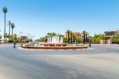 Fontana alla rotonda a Placa Bab Jdid fotografia stock libera da diritti