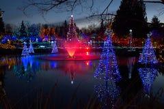 Fontana alla stagione di Natale Immagini Stock