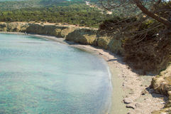 Fontana Amorosa beach Cyprus. View of Fontana Amorosa beach at Akamas peninsula, Cyprus stock image