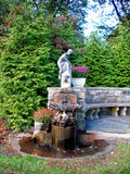 Fontana antica nel giardino botanico di NJ Immagine Stock
