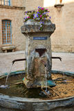 Fontana antica in Provenza Immagini Stock Libere da Diritti