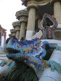 Fontana Barcellona, Spagna della lucertola di Parc Guell Immagini Stock
