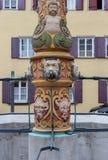 fontana barrocco al posto storico fotografia stock