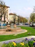 Fontana a Bergamo. Fotografia Stock