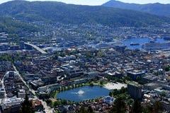 Fontana Bergen di Smalungeren Fotografia Stock