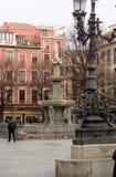 Fontana Bibrambla quadrato-Granada-Andalusia-Spagna Immagine Stock Libera da Diritti