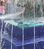 Fontana blu Fotografie Stock Libere da Diritti