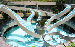Fontana blu Immagini Stock