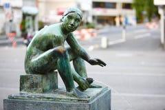 Fontana bronzea della statua Immagini Stock