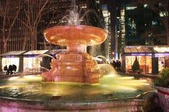 Fontana in Bryant Park New York Fotografie Stock Libere da Diritti