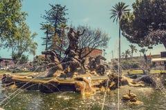 Fontana a Catania Immagine Stock