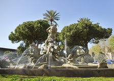Fontana a Catania, Italia. Fotografia Stock Libera da Diritti