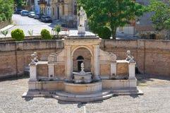 Fontana Cavallina Genzano di Lucania L'Italia Fotografia Stock Libera da Diritti