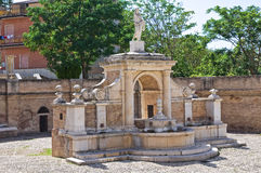 Fontana Cavallina Genzano di Lucania L'Italia Fotografia Stock