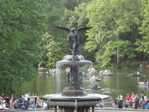 Fontana a Central Park Fotografia Stock