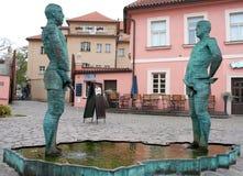Fontana che orina gli uomini a Praga Immagine Stock