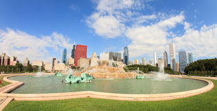 Fontana Chicago di Buckingham Fotografie Stock Libere da Diritti