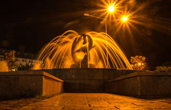 Fontana con i delfini Immagine Stock Libera da Diritti