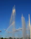 Fontana con l'arcobaleno Immagine Stock Libera da Diritti