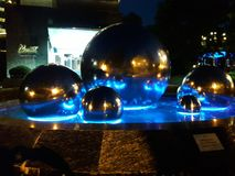 Fontana d'ardore come opera d'arte Immagini Stock