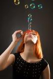 Fontana dalle bolle di sapone fotografia stock