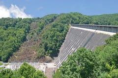 Fontana Dam 5. The spillway below the Fontana Dam in North Carolina royalty free stock images