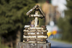 Fontana, decorazione del giardino Immagini Stock Libere da Diritti