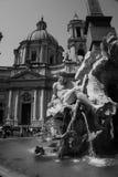 Fontana dei在广场Navona的Quattro Fiumi 免版税图库摄影