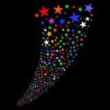 Fontana dei fuochi d'artificio della stella Fotografia Stock