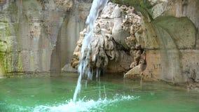Fontana dei Quattro Fiumi (四条河的喷泉)是一个喷泉在纳沃纳广场在罗马,意大利 股票录像