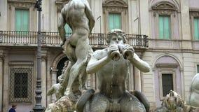Fontana dei Quattro Fiumi (四条河的喷泉)是一个喷泉在纳沃纳广场在罗马,意大利 影视素材